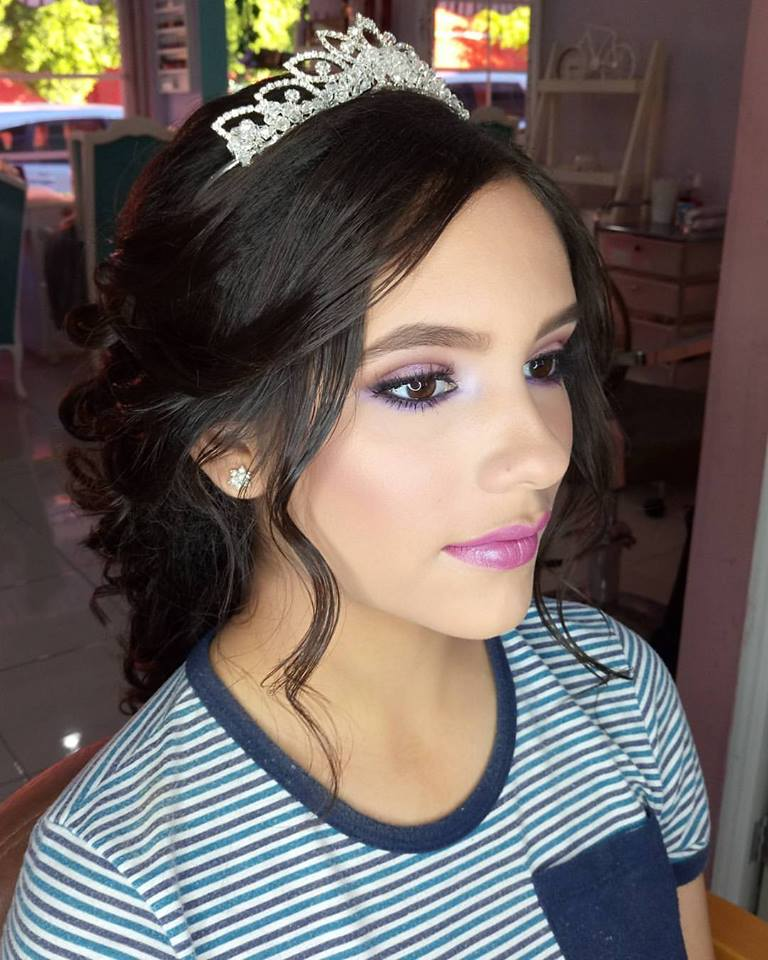 Quinceanera Hairstyles: Hair And Makeup Quinceanera 2017 -2018