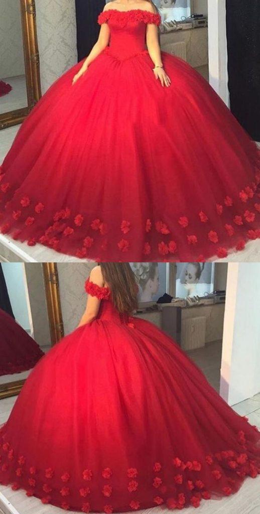 Vestidos de 15 años rojos