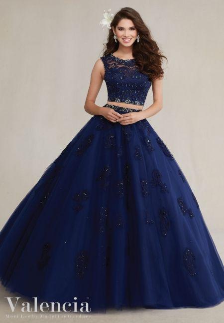Vestidos de xv color azul marino