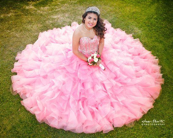 Vestidos para quince años rosas