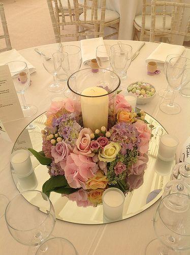 centros de mesa para xv años color rosa