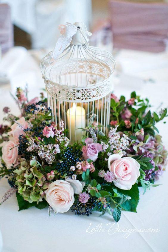 Centros de mesa para quince años con flores