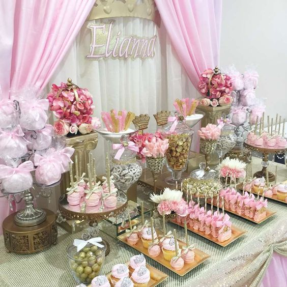 Ideas mesas de postres quinceanera rosa 14 ideas para for Ideas para mesa de postres