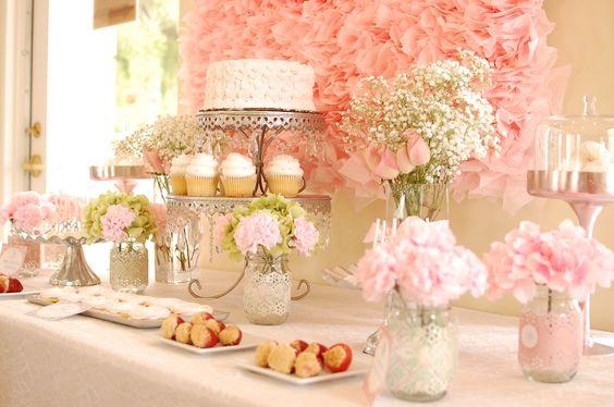 mesas de postres xv anos rosa ideas para fiestas de