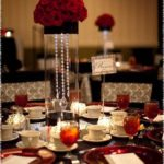Centros de mesa en color rojo