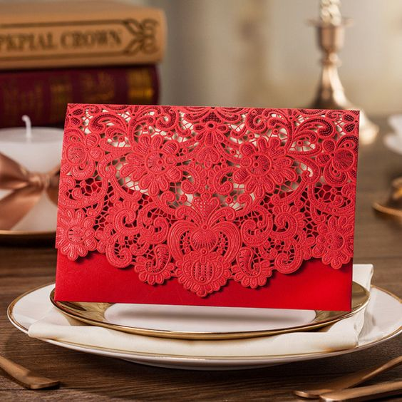 Invitaciones para quinceañeras color rojo