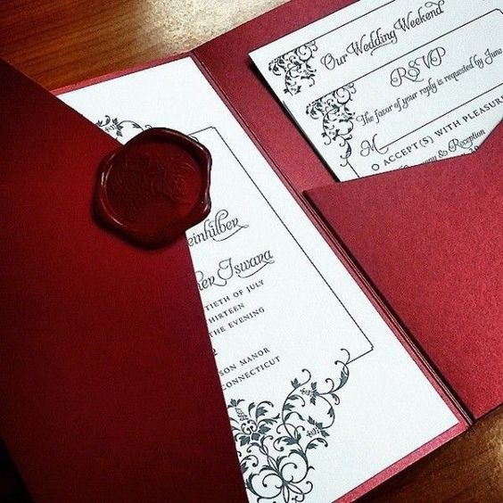 Ideas de Invitaciones para quinceañeras color rojo
