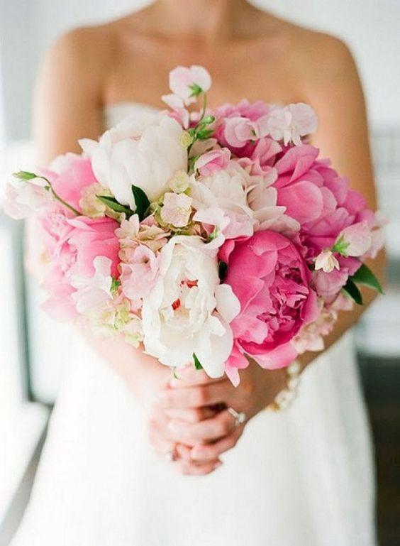 Ideas de ramos para quinceañera en color rosa