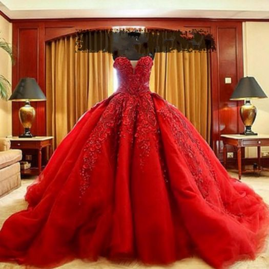Digging The Off Red Vintage Color And The Lil White: Vestidos-de-quinceanera-xv-anos-color-rojo-9