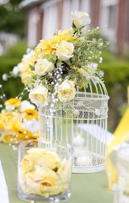 centros de mesa para quinceañera colo amarillo