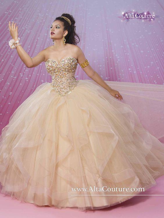 Vestidos Para Quinceanera Color Dorado 12 Ideas Para