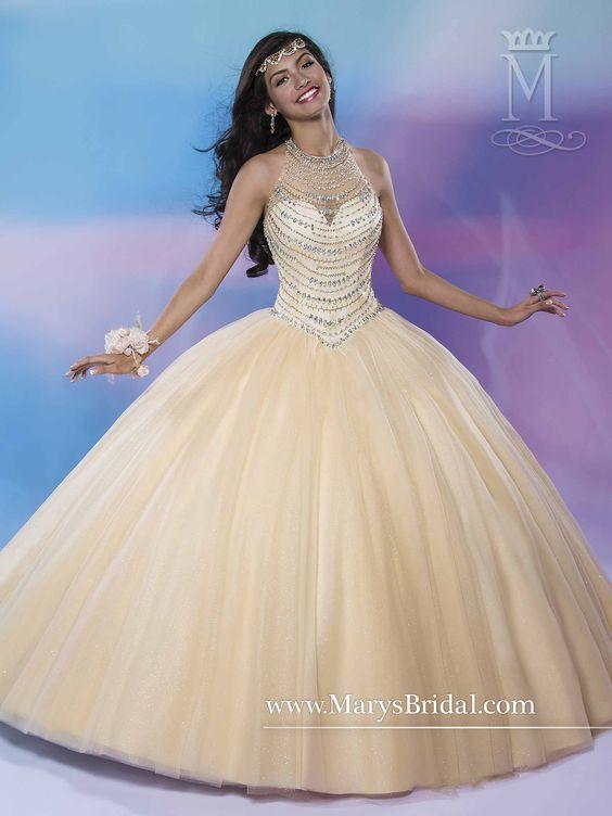 Vestidos Para Quinceañeras Color Dorado 2019 Ampones Rosa