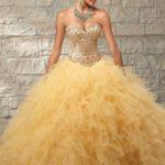 Vestidos para quinceañeras color dorado