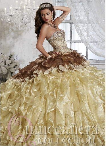 12 ideas de vestidos de quince años color cafe
