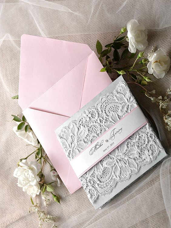 Invitaciones para XV años color plata