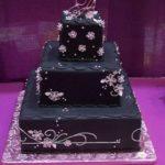 Pasteles para xv años en color negro