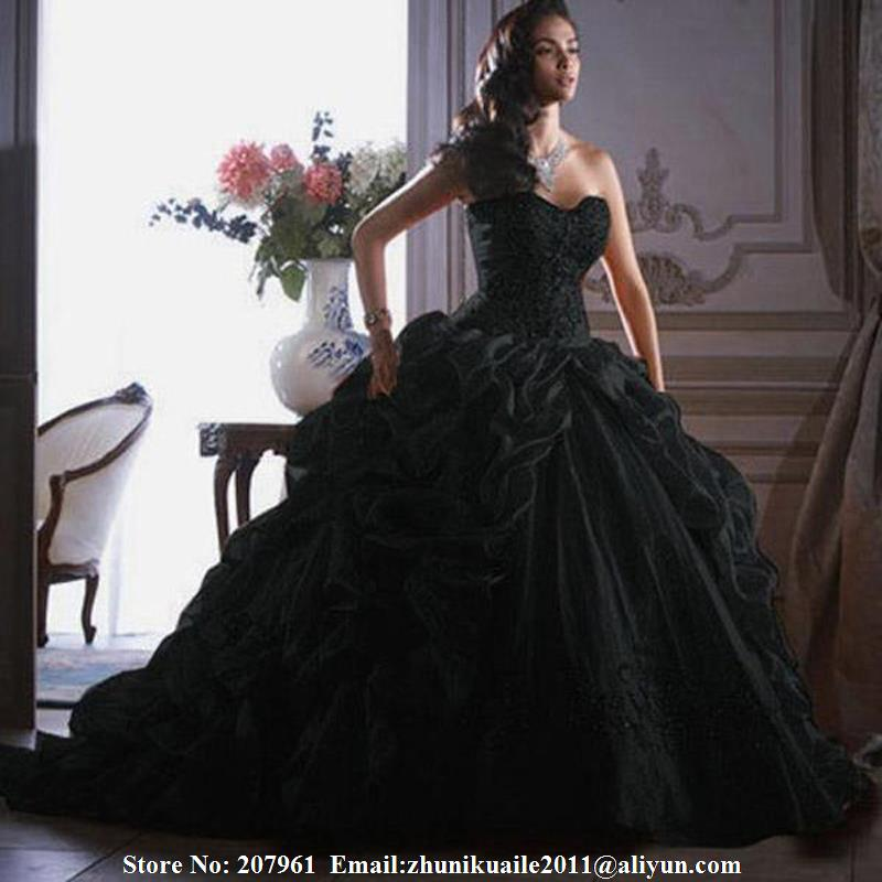 Vestidos de quinceanera color negro