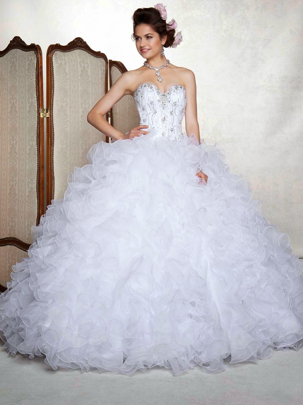 1962949877 Vestidos de xv blancos con pedreria – Vestidos baratos