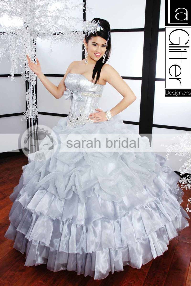 c82d2fafb vestidos-para-xv-anos-en-color-plata-5 - Ideas para Fiestas de ...