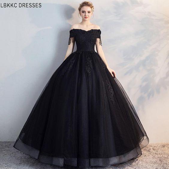 Vestidos Para Xv Años En Color Negro Tendencias 2019