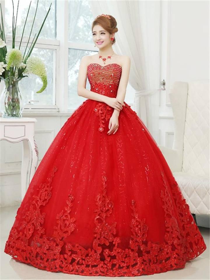 f1445b921 Vestidos para quince años de princesa rojos 2019 - 2020