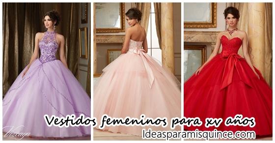 5cfe8a9b2 Vestidos para xv años modernos y femeninos - Ideas para Fiestas de  quinceañera - Vestidos de 15 años invitaciones de quinceañera