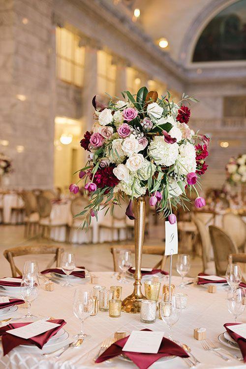 Centros de mesa elegantes para XV años altos