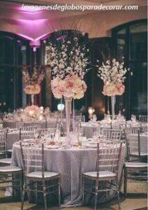 Centros de mesa elegantes para quince años con velas