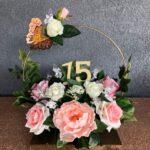 Centros de mesa elegantes para 15 años