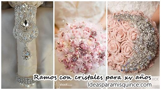 Ramos De 15 Anos: Ramos De Xv Años Con Cristales