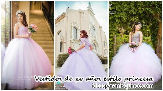 9c3e8fcaf Vestidos de xv años estilo princesa - Ideas para Fiestas de quinceañera -  Vestidos de 15 años invitaciones de quinceañera