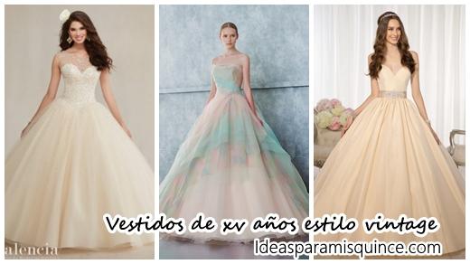 d7561ba749 31 vestidos de xv años estilo vintage - Ideas para Fiestas de quinceañera -  Vestidos de 15 años invitaciones de quinceañera