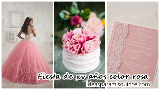 04441dc36ad 55 Ideas para fiesta de XV años color rosa | Tendencias 2019
