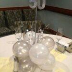 Centros de mesa para 15 años color plata