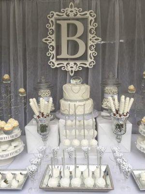 Diseños de pasteles para fiesta de xv años color plata