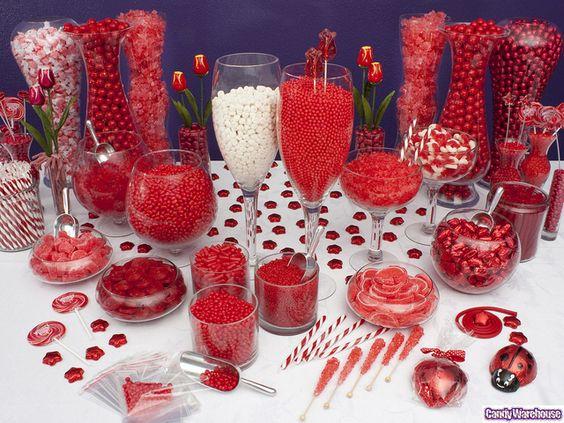 Tema Matrimonio De Amor : Decoracion mesa postres color rojo xv anos ideas