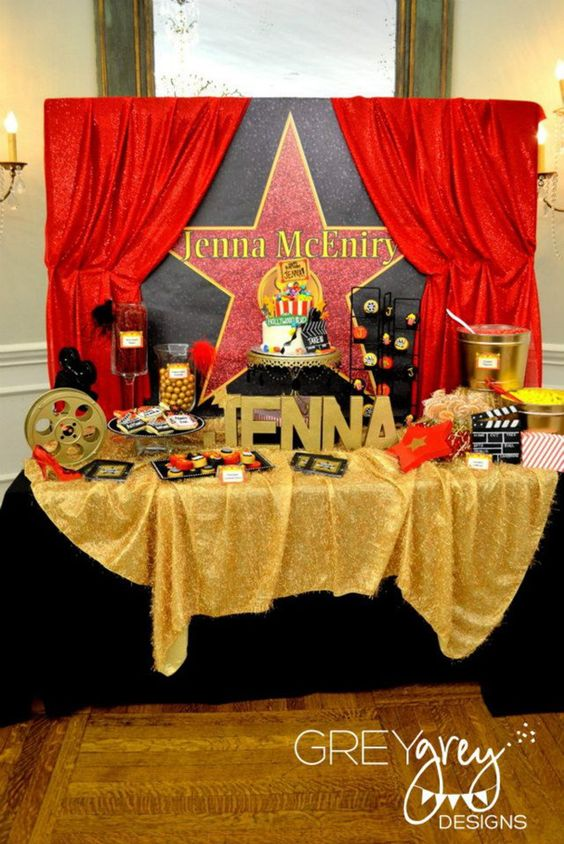 Decoracion Mesa Postres Color Rojo Xv Anos 17 Ideas