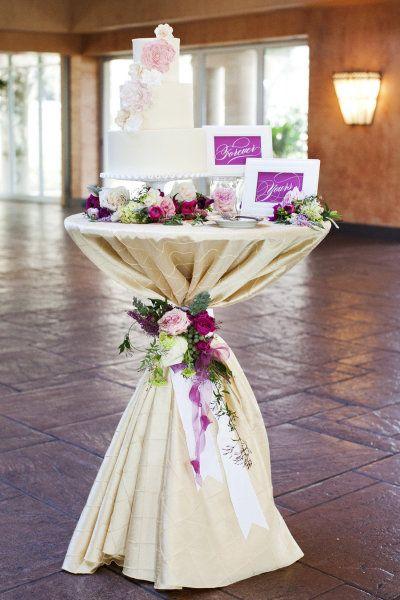 Mesas elegantes para el pastel de xv años