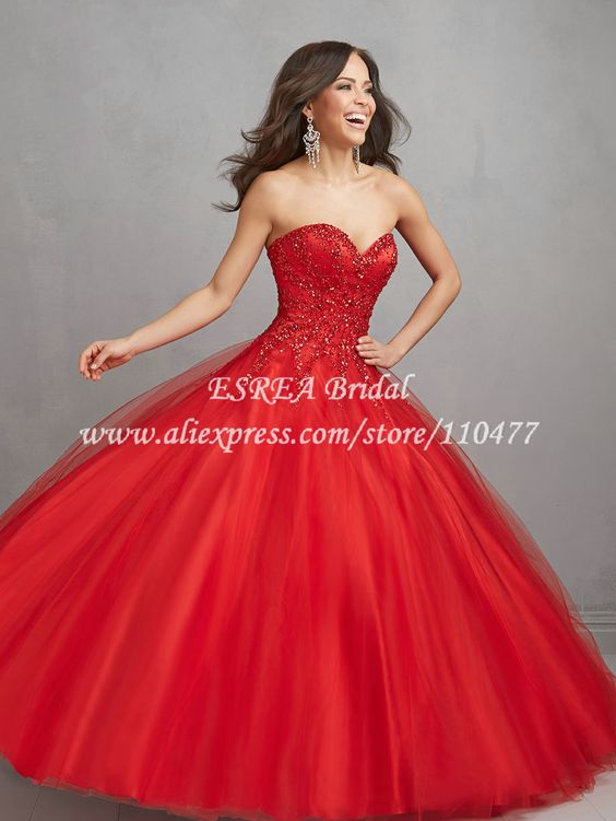 Vestidos De Xv Años Color Rojo Ideas Para Fiestas De