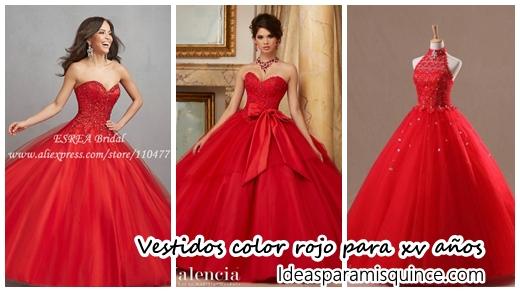 14ddf3a59 Vestidos de xv años color rojo - Ideas para Fiestas de quinceañera -  Vestidos de 15 años invitaciones de quinceañera