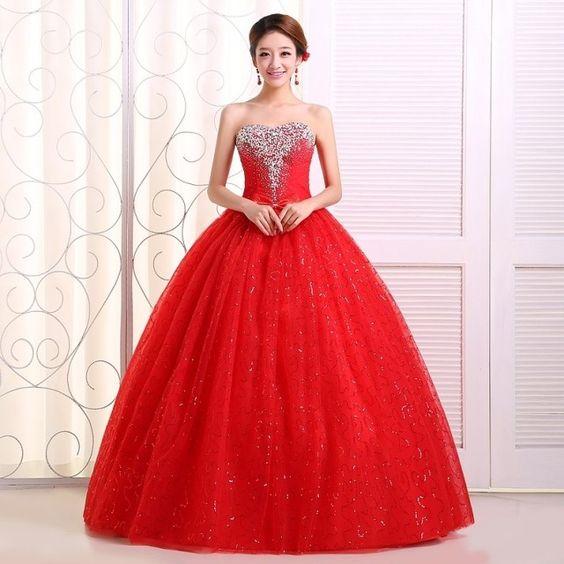 78651cf65 vestidos-xv-anos-color-rojo (4) - Ideas para Fiestas de quinceañera ...
