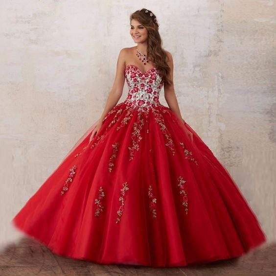 Vestidos Xv Anos Color Rojo 9 Ideas Para Fiestas De