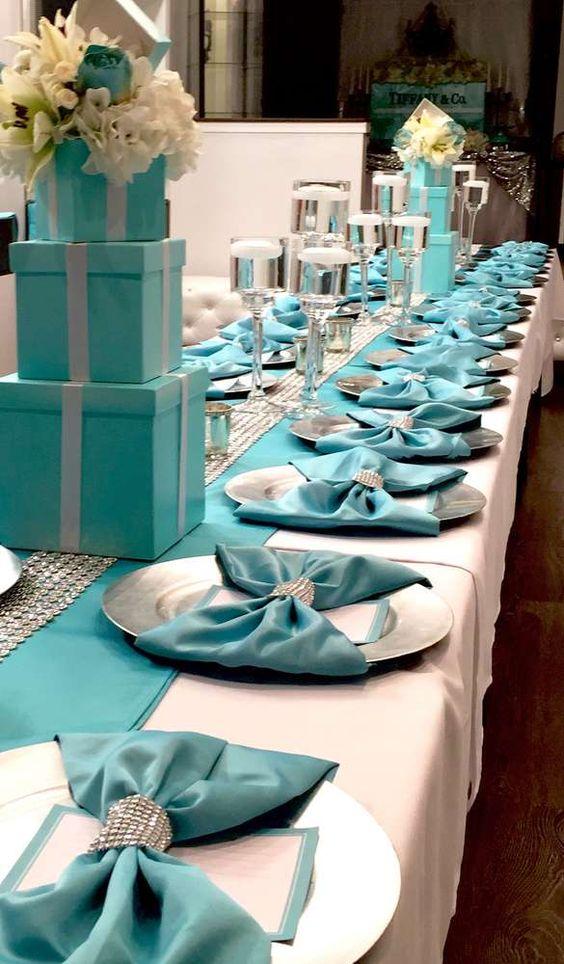 XV años inspirados en el tema de Tiffany & Co