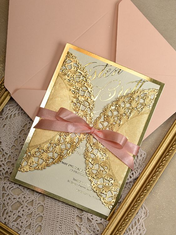 Invitaciones Para Xv Años Color Dorado Tendencias 2019 2020