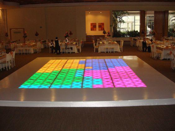 Diseños de pistas iluminadas para fiestas de xv años