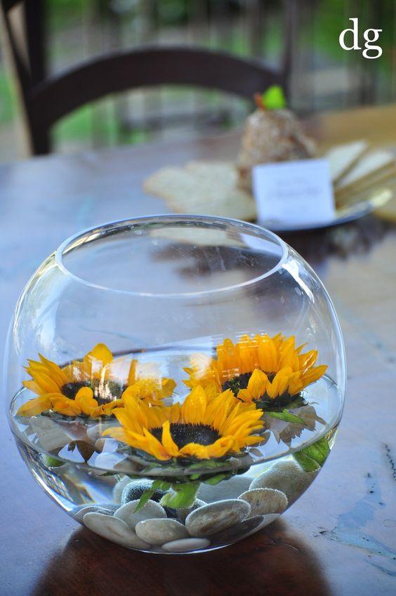 Ideas de centros de mesa con agua para 15 años