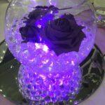 30 Ideas de centros de mesa morados