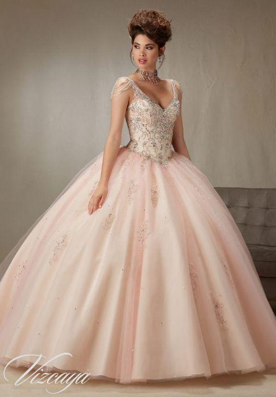 c8f5d3ece 33-vestidos-xv-anos-estilo-princesa (14) - Ideas para Fiestas de ...