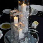 36 Centros de mesa de cristal