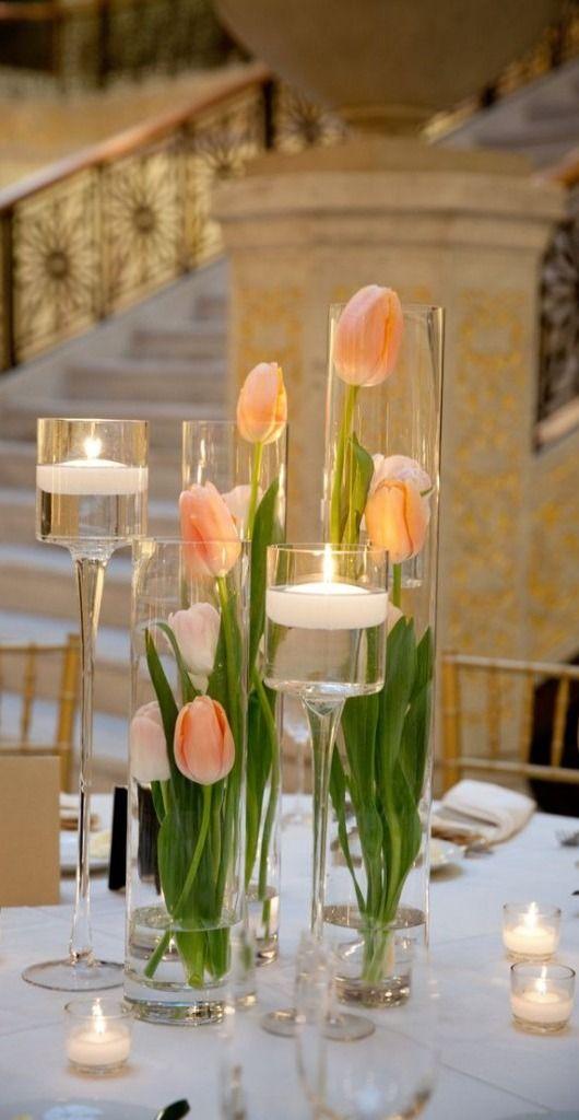 Centros de mesa de cristal para XV años